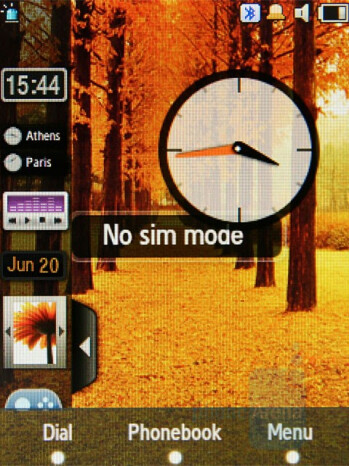 Analog Clock - Widgets - Samsung SGH-F480 Review