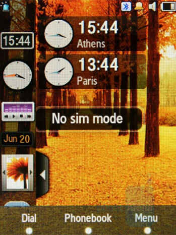 Dual Clock - Widgets - Samsung SGH-F480 Review