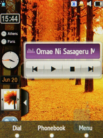 Music Player - Widgets - Samsung SGH-F480 Review