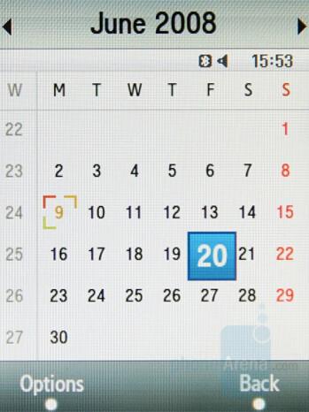 Calendar - Samsung SGH-F480 Review