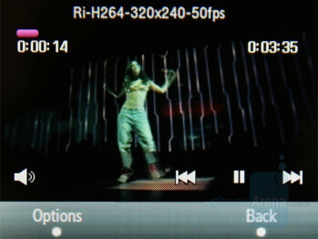 Video Player - Samsung SGH-F480 Review