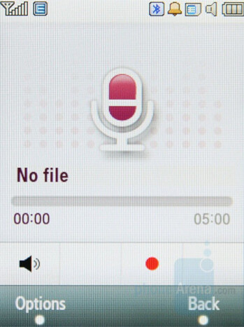 Voice Recorder - Samsung SGH-F480 Review