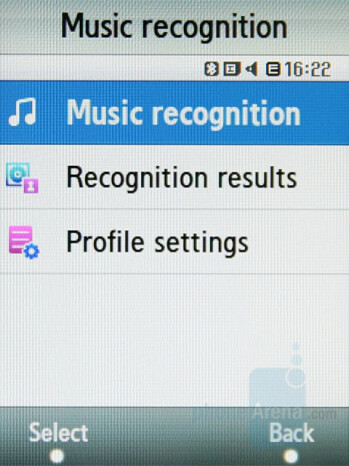 Music Recognition - Samsung SGH-F480 Review
