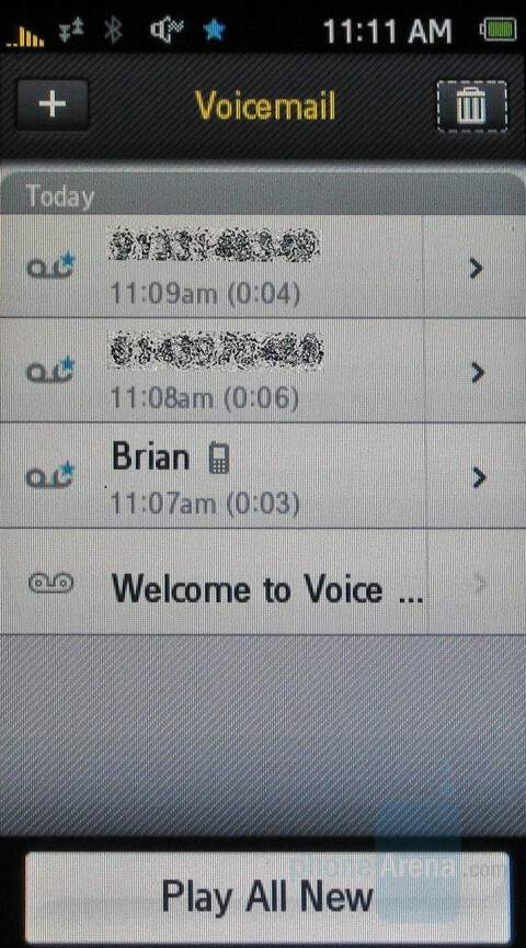 how to delete visual voicemail on samsung