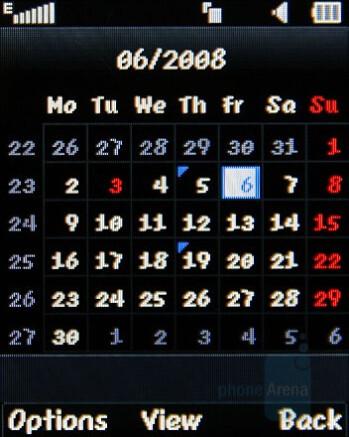 Calendar - LG KF310 Review