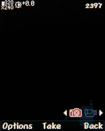 Camera Interface - LG KF310 Review