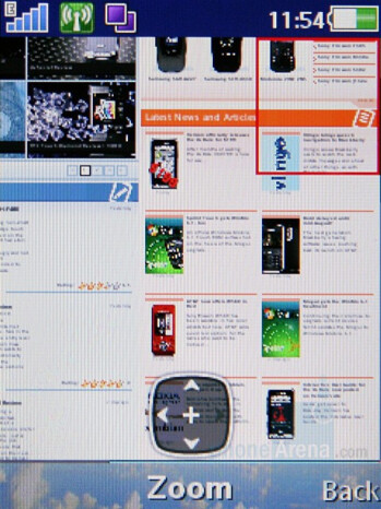 Browser - Sony Ericsson C905 Preview