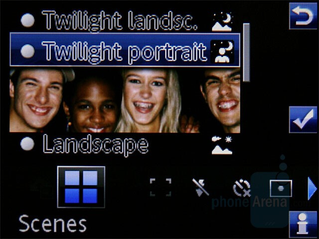 Camera interface - Sony Ericsson C905 Preview
