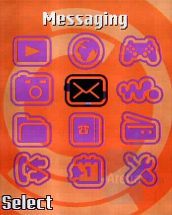 Main menu - Sony Ericsson W350 Review