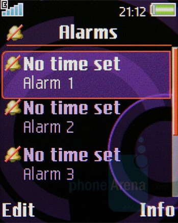 Alarms - Sony Ericsson W350 Review