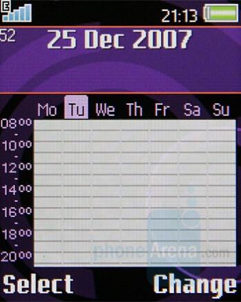 Calendar - Sony Ericsson W350 Review