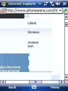 Browser - i-mate Ultimate 8502 Preview
