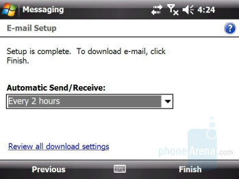 Email Setup - HTC X7510 Advantage Review