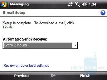 Email Setup - HTC X7510 Advantage Review