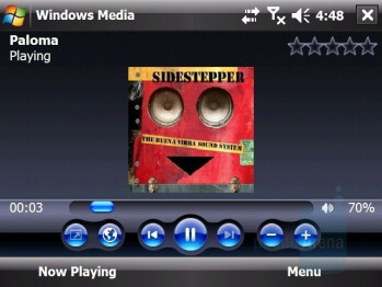Windows Media Player - HTC X7510 Advantage Review