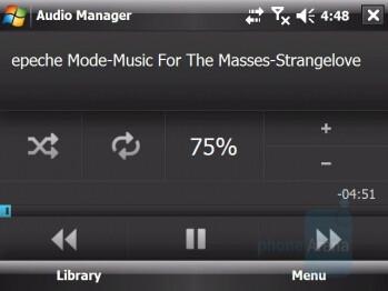 Audio Manager - HTC X7510 Advantage Review