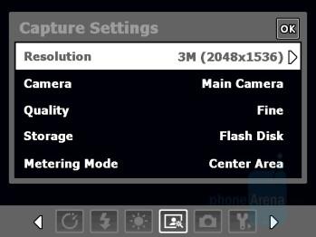 Camera Interface - HTC X7510 Advantage Review