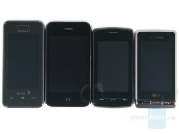 Touchscreen phone comparison Q3 - U.S. carriers