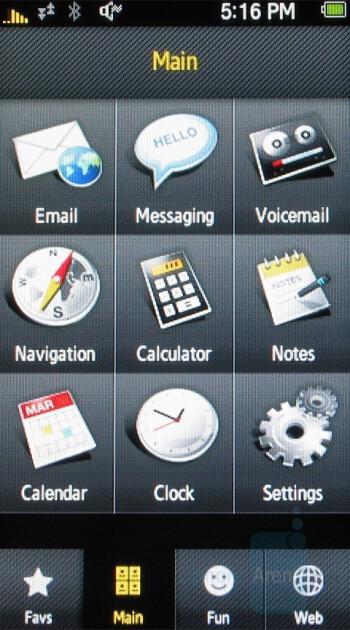 Samsung Instinct - User interface - Touchscreen phone comparison Q3 - U.S. carriers
