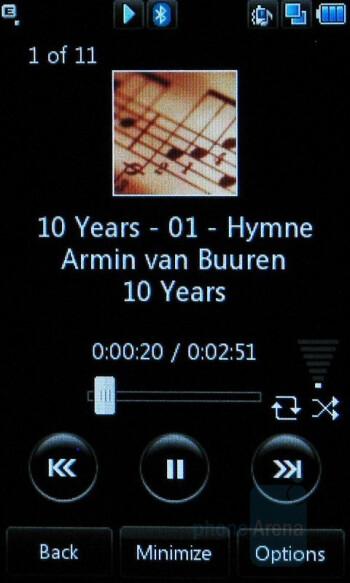 Music player - LG Vu - Touchscreen phone comparison Q3 - U.S. carriers