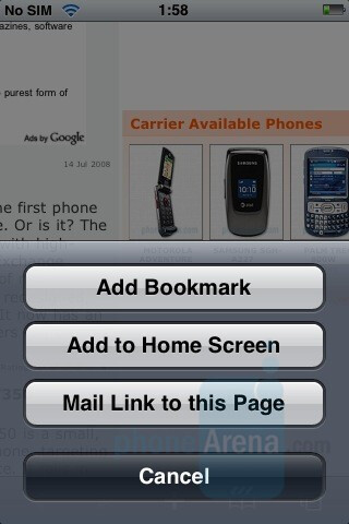 iPhone browser - Touchscreen phone comparison Q3 - U.S. carriers