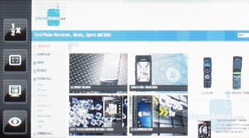 Samsung Instinct browser - Touchscreen phone comparison Q3 - U.S. carriers