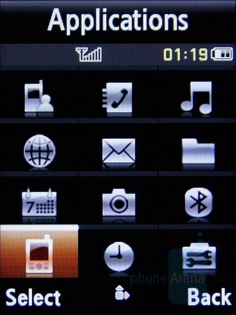 Main Menu - Samsung SGH-L770 Review