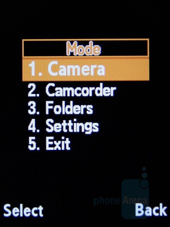 Camera Settings - Samsung SGH-L770 Review