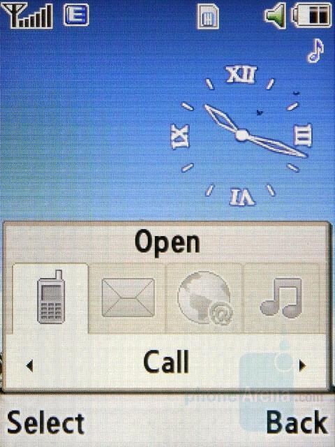 Shortcut Menu - Samsung SGH-L770 Review