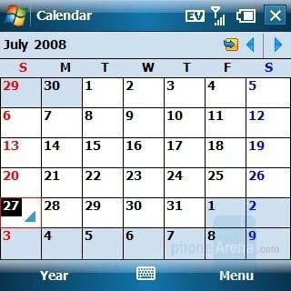 Calendar - Palm Treo 800w Review