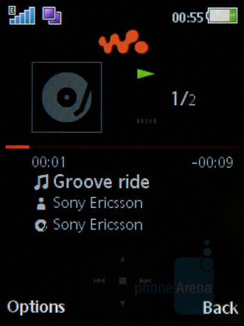 Music player - Sony Ericsson W595 Preview