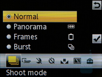 Camera Interface - Sony Ericsson W595 Preview