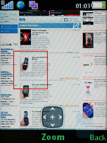 Internet browsing - Sony Ericsson W595 Preview
