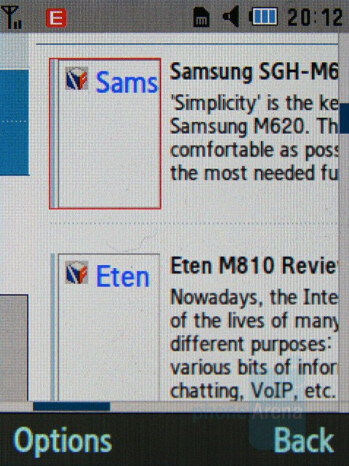 Internet Browser - Samsung Soulb Review