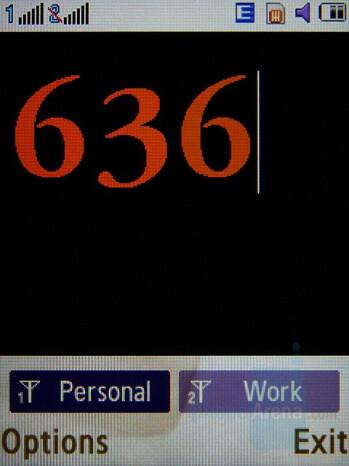 Dialing Screen - Samsung SGH-D780 Review