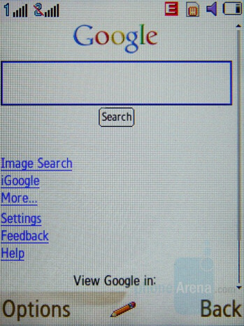 Internet Browser - Samsung SGH-D780 Review