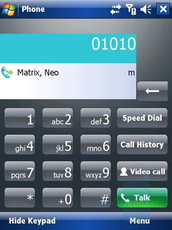 Dialing Screen - i-mate Ultimate 6150 Review