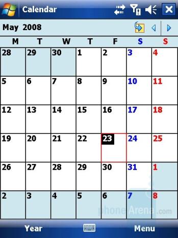 Calendar - i-mate Ultimate 6150 Review