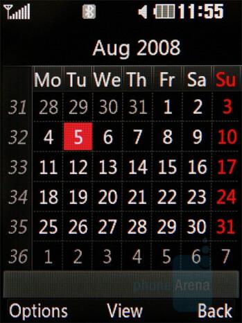Calendar - LG KC550 Review