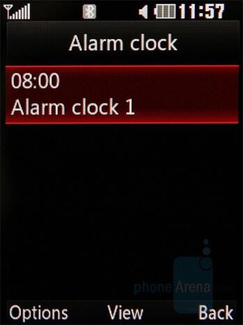 Alarms - LG KC550 Review