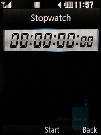 Stopwatch - LG KC550 Review