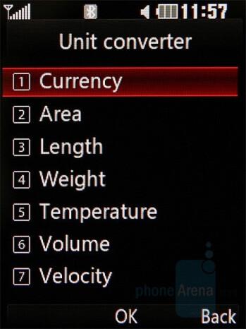 Unit Converter - LG KC550 Review