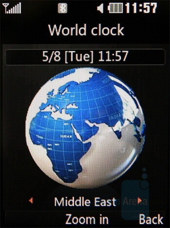 World Clock - LG KC550 Review