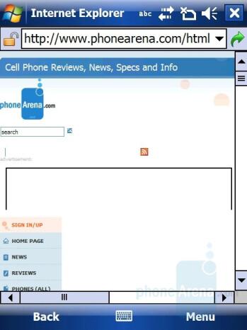 Internet Explorer - i-mate Ultimate 9502 Preview