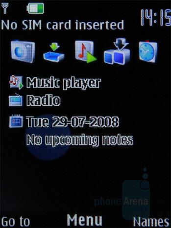 Homescreen - Nokia 7310 Supernova Review