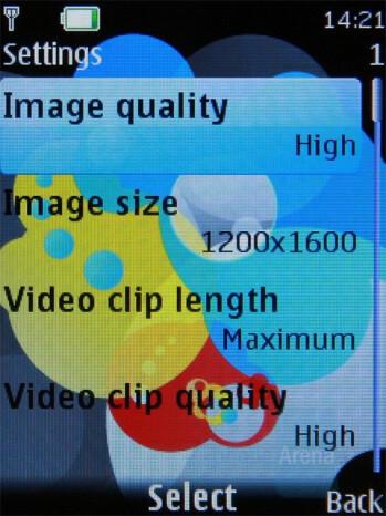 Camera Interface and Settigns - Nokia 7310 Supernova Review