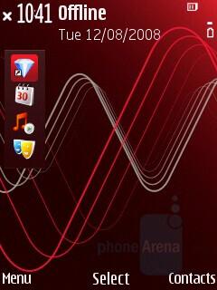 Home Screen - Nokia 5320 XpressMusic Review