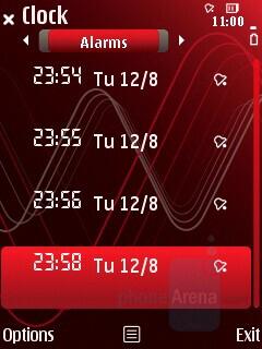 Alarms - Nokia 5320 XpressMusic Review