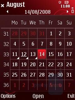 Calendar - Nokia 5320 XpressMusic Review