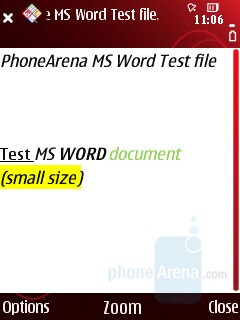 Word - Quickoffice - Nokia 5320 XpressMusic Review